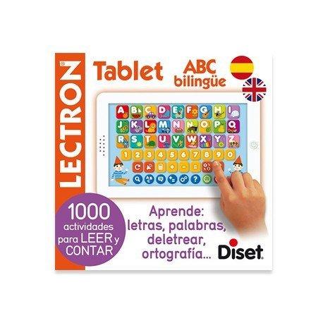 Juego didactico a partir de 4 años Lectron mini tablet ABC bilingue Diset