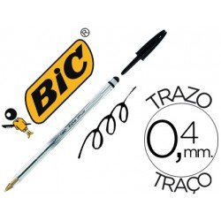 Boligrafo Bic cristal stylus 2 en 1 negro 0,4 mm