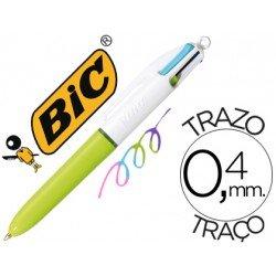 Boligrafo Bic 4 colores Fashion Mini 0,4 mm