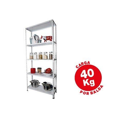 Estantería AR Storage metálica con 5 estantes 40 kg