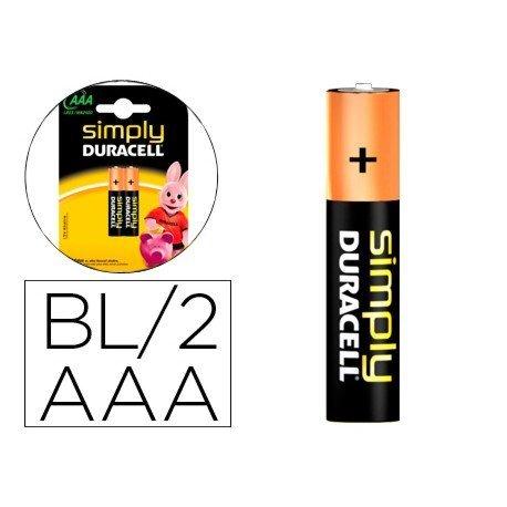Pila Duracell alcalina Simply AAA