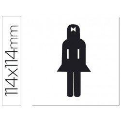 Etiqueta adhesiva Apli de señalizacion indicador silueta mujer