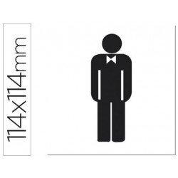 Etiqueta adhesiva Apli de señalizacion silueta hombre