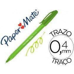 Boligrafo Paper Mate Inkjoy 100 verde lima 0,4 mm