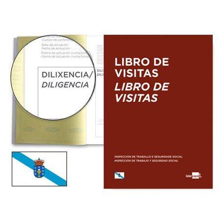 Libro Liderpapel idioma Gallego A4 Registro de visitas