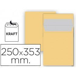 Sobre bolsa Liderpapel N11 Kraft Folio prolongado Caja 25
