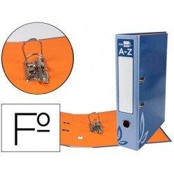 Archivador de palanca Liderpapel folio carton forrado rado azul lomo 52mm