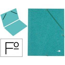 Carpeta Liderpapel gomas carton prespan sencilla folio verde