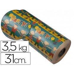 Bobina papel tipo kraft Impresma 31 cm 3,5 kg motivo infantil 4264