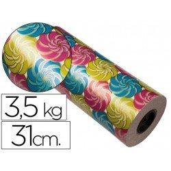 Bobina papel tipo verjurado Impresma 31 cm 3,5 kg star 7035