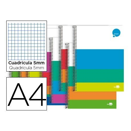 Bloc Liderpapel Din A4 serie Dream cuadricula 5mm