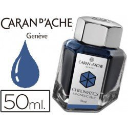 Tinta estilografica marca Caran d'Ache Chromatics azul magnetico