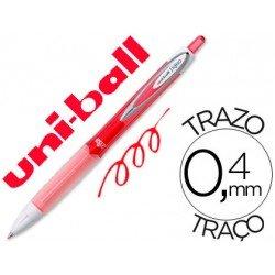 Boligrafo marca Uni-Ball roller UMN-207 color rojo 0,4 mm