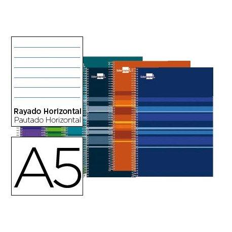 Bloc marca Liderpapel Din A5 Classic rayado horizontal surtidos