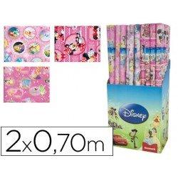 Papel fantasia marca Liderpapel Disney niña 70 cm x 2 m