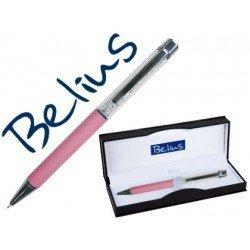 Boligrafo marca Belius Granada cristales rosa estuche