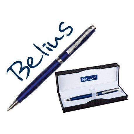 Boligrafo marca Belius Dublin azul estuche