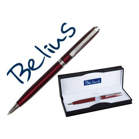 Boligrafo marca Belius Dublin rojo estuche