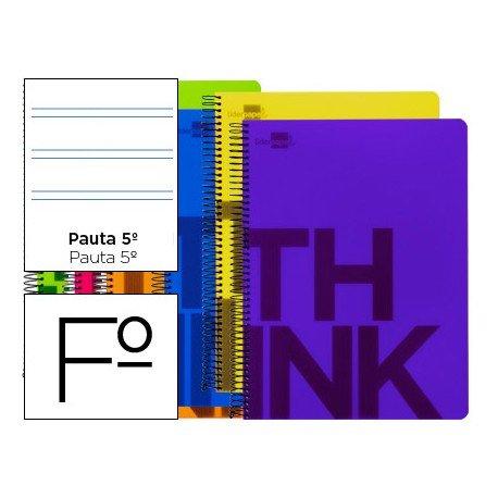 Bloc Folio marca Liderpapel serie Think pauta 2.5 mm surtidos