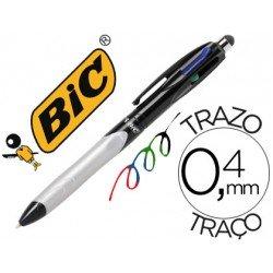 Boligrafo marca Bic cuatro colores stylus 2 en 1