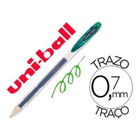 Boligrafo marca Uni-Ball roller UM-120 signo verde