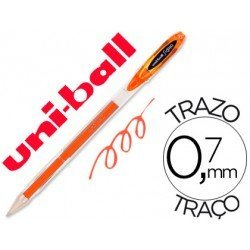 Boligrafo marca Uni-Ball roller UM-120 signo 0,4 mm naranja