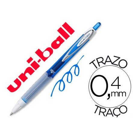 Boligrafo marca Uni-Ball roller UMN-207 color azul 0,4 mm