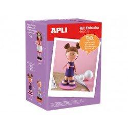 Kit de manualidades marca Apli fofucha niña