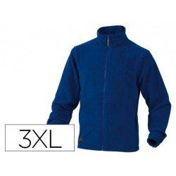 Chaqueta polar DeltaPlus color azul talla 3XL