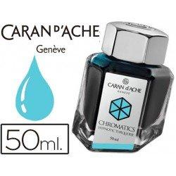 Tinta estilografica marca Caran d'Ache Chromatics turquesa hipnotico