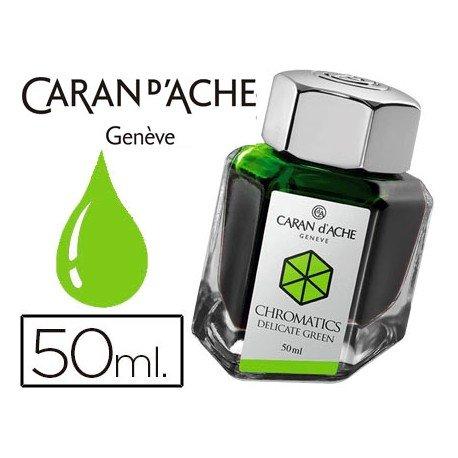 Tinta estilografica marca Caran d'Ache Chromatics verde delicado