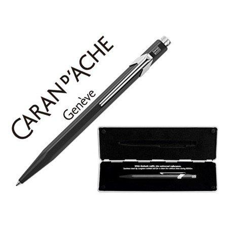Boligrafo marca Caran d'ache 849 Pop line negro estuche