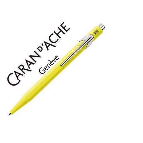 Boligrafo marca Caran d'ache 849 fluor amarillo