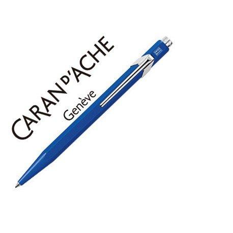 Boligrafo marca Caran d'ache 849 azul Trazo medio
