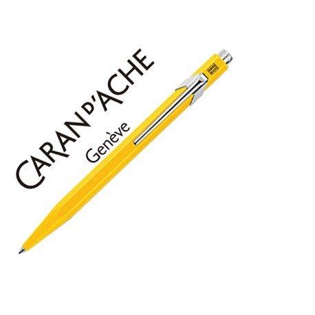Boligrafo marca Caran d'ache 849 Amarillo Trazo medio