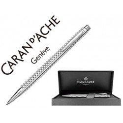 Boligrafo marca Caran d'ache Ecridor Golf placado paladio estuche