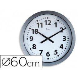 Reloj Cep pared plastico 60 cm color gris y esfera blanca