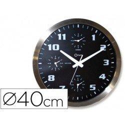 Reloj Cep pared cromado 40 cm esfera color negra