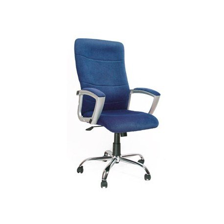 Silla direccion Q-Connect respaldo alto color azul