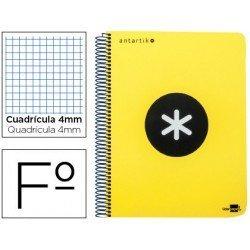 Bloc Liderpapel Folio Serie Antartik cuadricula color amarillo