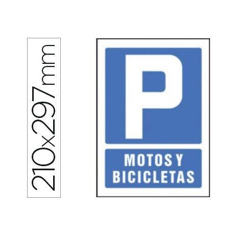 Señal marca Syssa parking motos y bicicletas