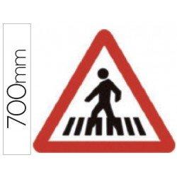 Señal vial marca Syssa paso peatones