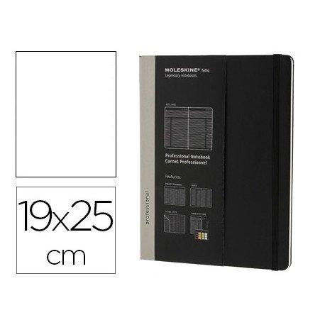 Libreta Moleskine profesional color negro19x25 cm