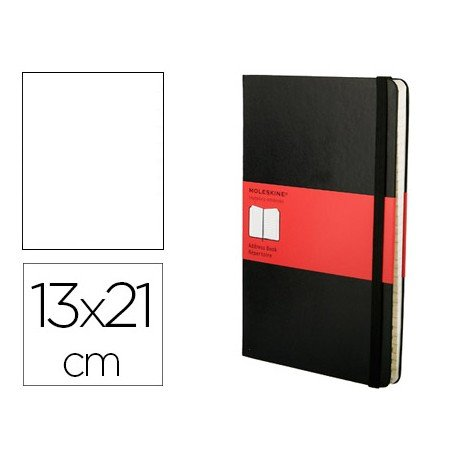 Libreta Moleskine indice color negro 13x21 cm