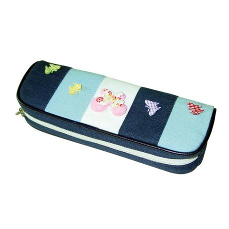 Bolso escolar portatodo modelo fantasia mariposas colores