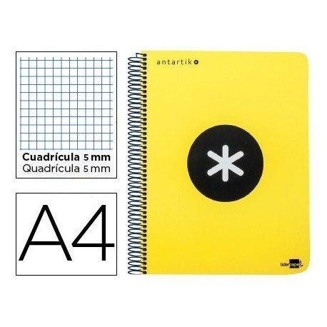 Bloc Antartik A4 Cuadrícula tapa Plástico 100g/m2 Amarillo 5 bandas color