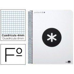 Bloc marca Liderpapel Folio Antartik cuadricula 4 mm blanco polipropileno