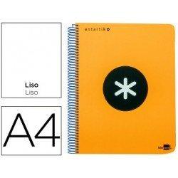 Bloc Antartik A4 Liso tapa Plástico 100g/m2 Naranja 5 bandas color