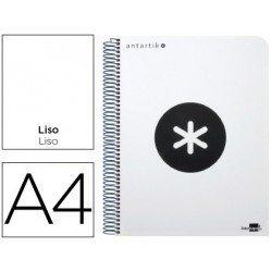 Bloc Antartik A4 Liso tapa Plástico 100g/m2 Blanco 5 bandas color