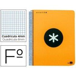 Bloc Antartik Folio Cuadrícula tapa Dura 100g/m2 Naranja Flúor con margen